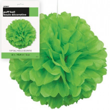 Puff ball decoration - Lime Green