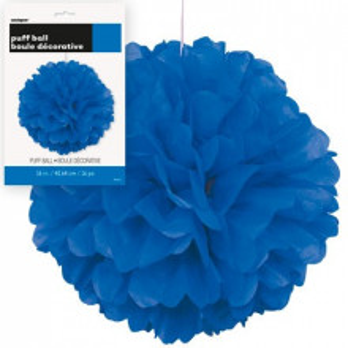 Puff Pom  Lampion - Royal Blue