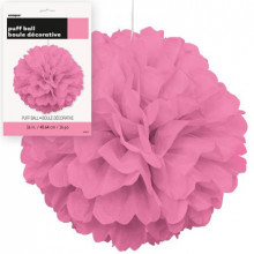 Puff Pom  Lampion - Hot Pink