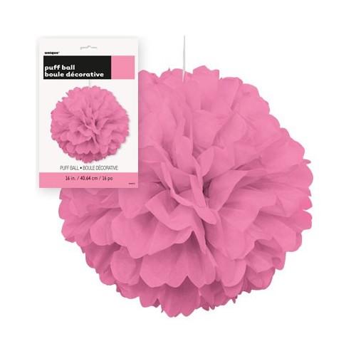 Puff Pom lampijon - Hot Pink