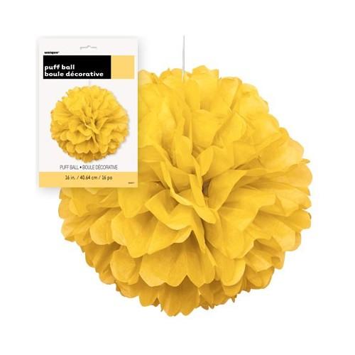 Puff ball decoration - Yellow