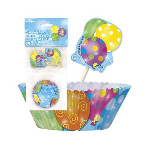 Twinkle balloons komplet za mufine