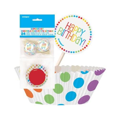 Rainbow Birthday Cupcake Decorating Kit