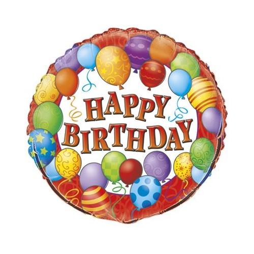 Birthday Balloons - folija balon