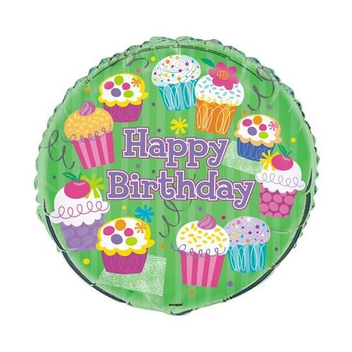 Cupcake Party - foil balloon