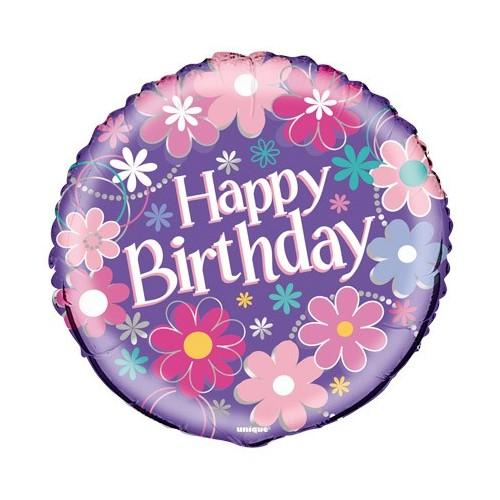 Birthday Blossom - foil balloon