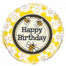 Busy Bees Birthday - foil balloon