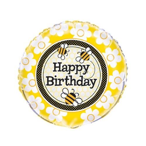 Busy Bees Birthday - folija balon