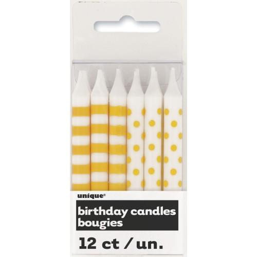 Rumene črte in pike svečke