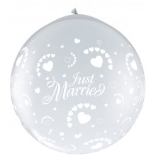 Just Married hearts-A-Round