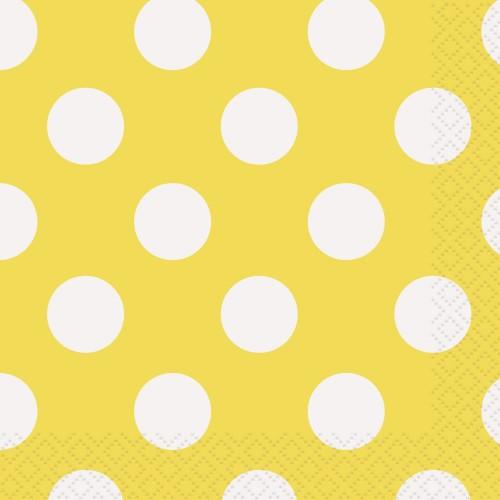 Beverage yellow napkins