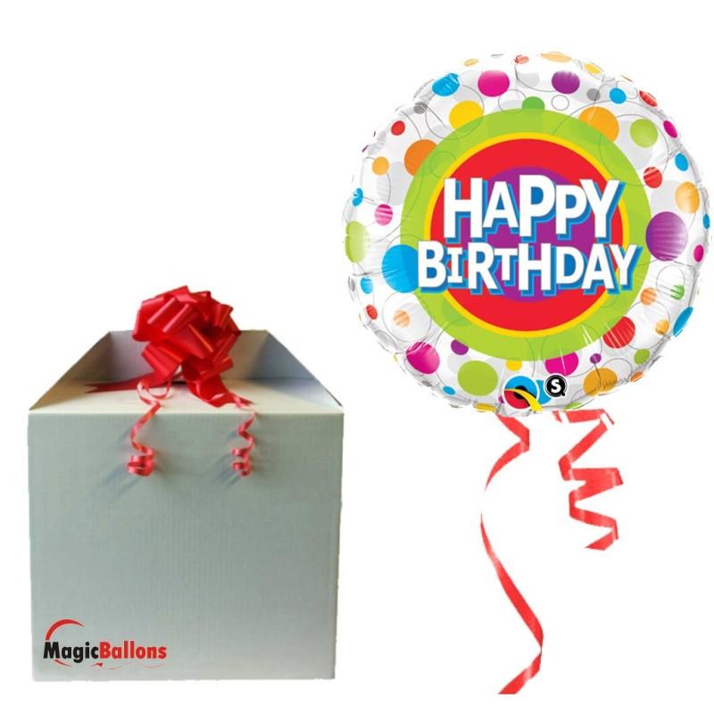 Happy Birthday Clolorful dots - foil balloon