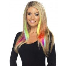 Clip in yellow extensions