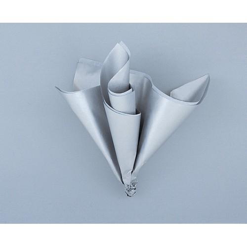 Tissue sheet metalic silver