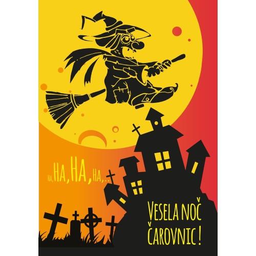 Greeting card noč čarovnic