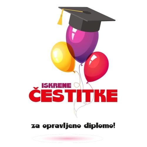 Voščilnica čestitke za diplomo
