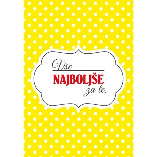 Žuti karton sretan rođendan za vas