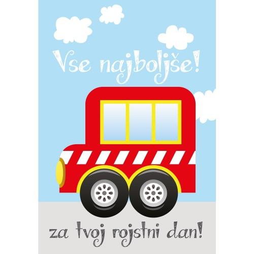 Voščilnica vse najboljše avtobus