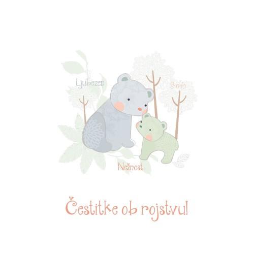 Greeting card čestitke ob rojstvu