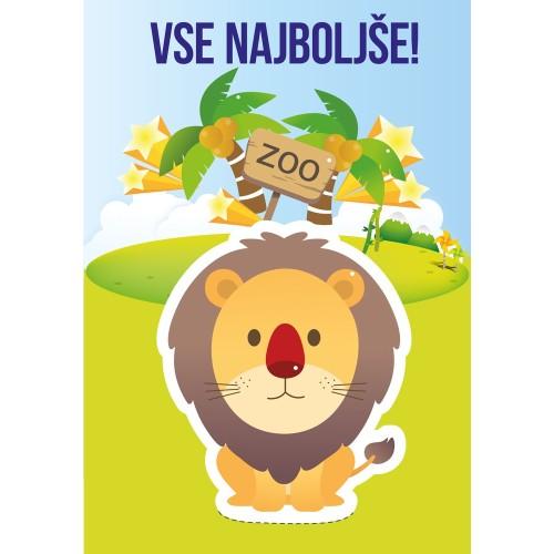 Greeting card vse najboljše lion