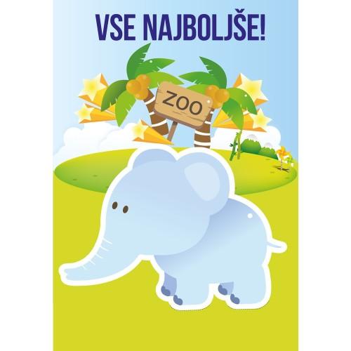 Greeting card vse najboljše elephant