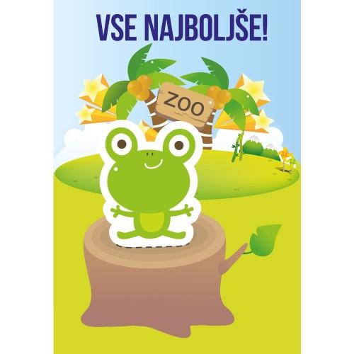 Greeting card vse najboljše frog