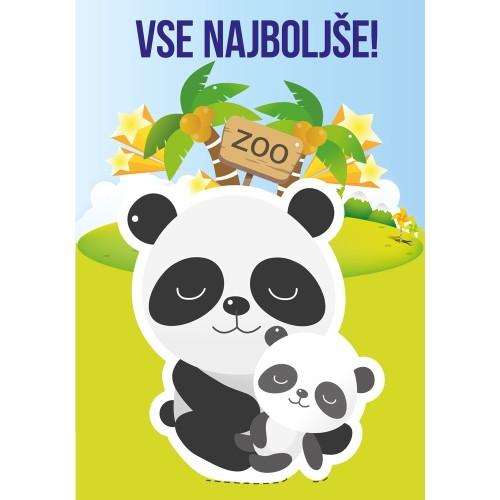 Greeting card vse najboljše panda