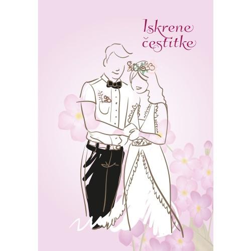 Voščilnica čestitke ob poroki