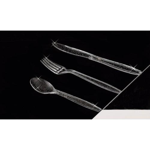 Glitter silver spoon