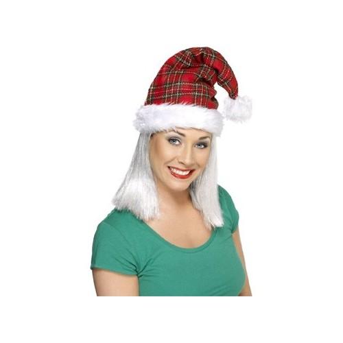 Tartan božičkova kapa