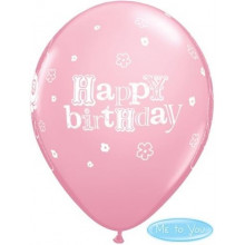 Balloon Tatty Teddy Bday Rose