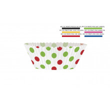 Red and green dots cupcake decorating kit