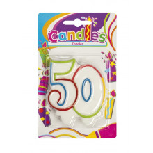 Multicolour candle 50