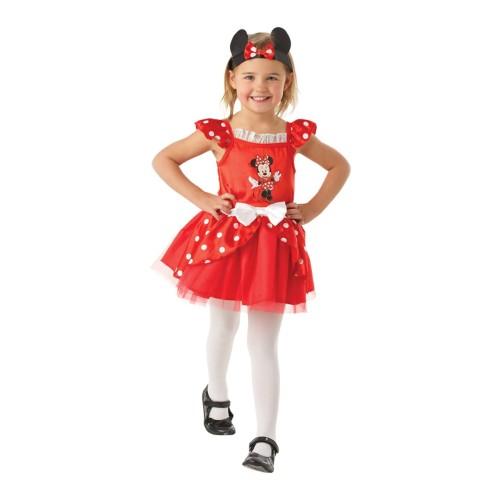 Rdeča Minnie Mouse balerina kostum