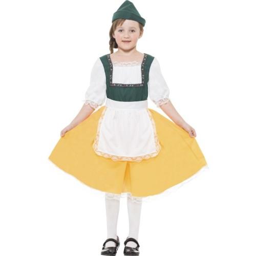 Bavarska deklica otroški kostum