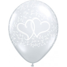 Entwined Hearts Diamond Clear