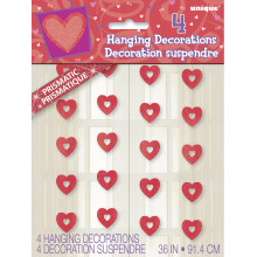 Heart hanging decoration