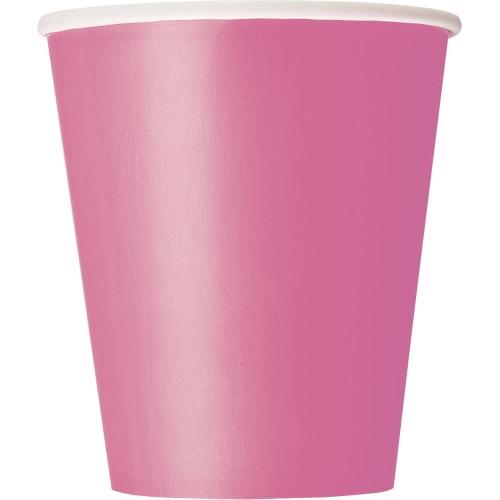 Kozarčki 270 ml - živahno pink 8 kom
