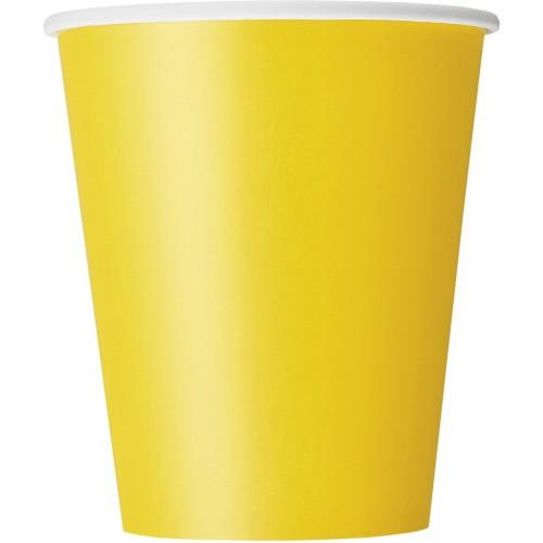 Cups 9OZ - Yellow 8 pcs