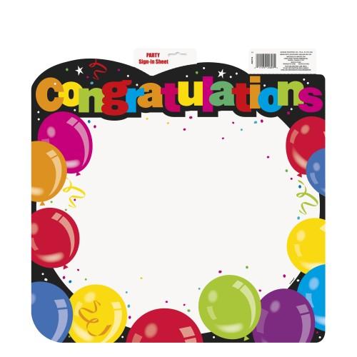Congratulation sheet
