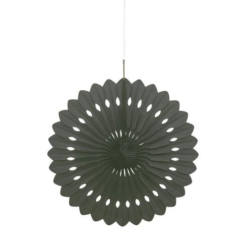 Črna dekorativna pahljača