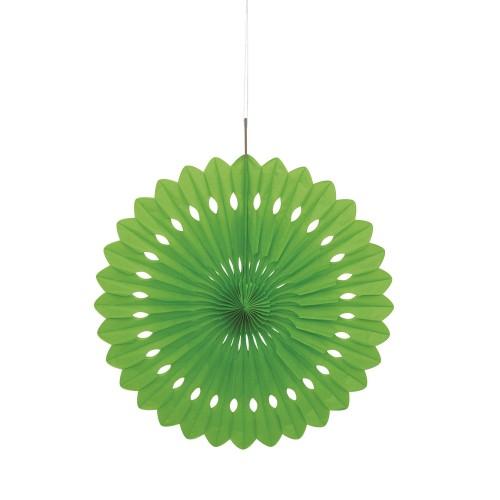 Svetlo zelena dekorativna pahljača