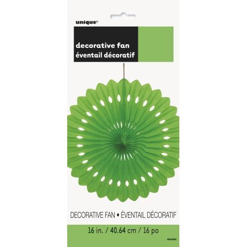 Decorative lime green fan