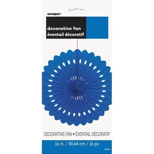 Decorative royal blue fan