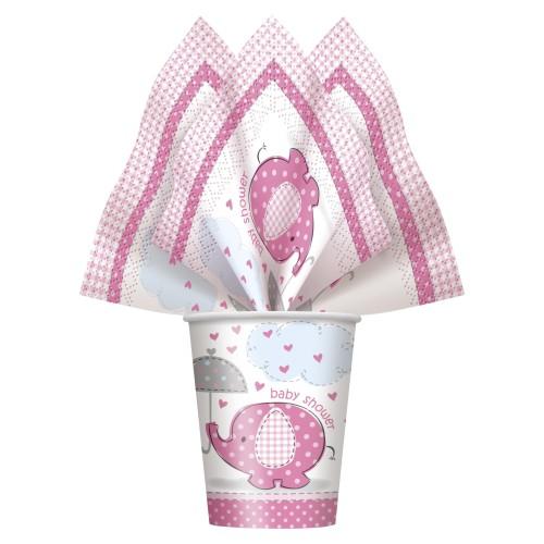 Umbrellaphants pink napkins