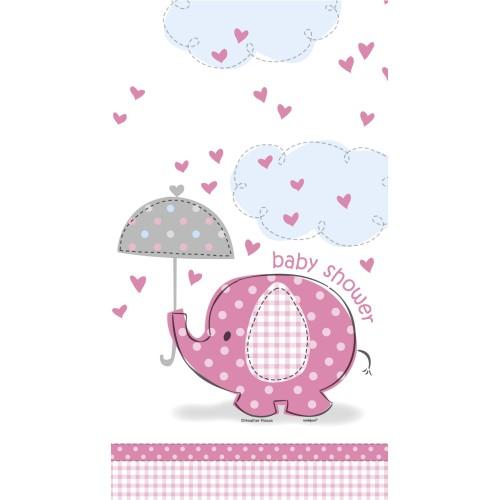 Umbrellaphants pink tablecover