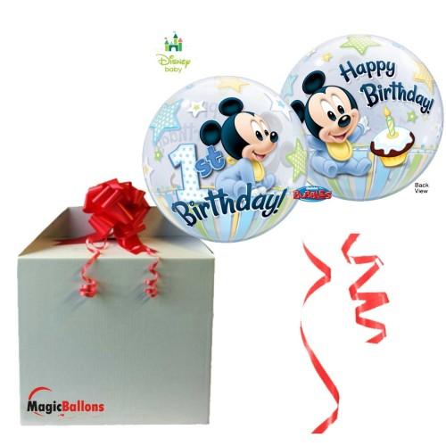 Mickey Mouse 1st Birthday - B.Ballon in Paket