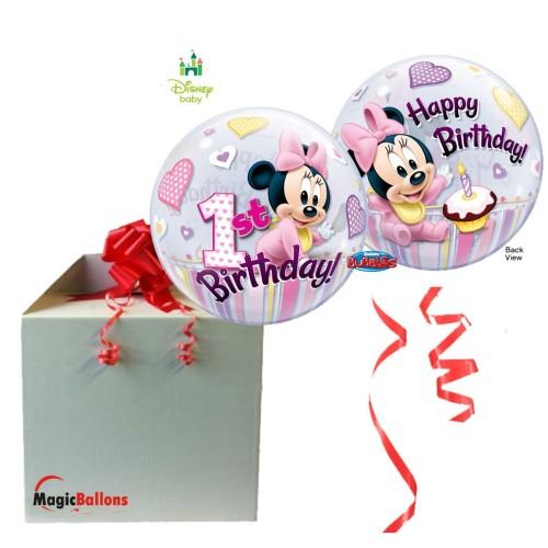 Minnie Mouse 1st Birthday - b.balon v paketu