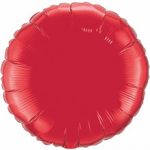 Folienballon - rubinrot 10 cm