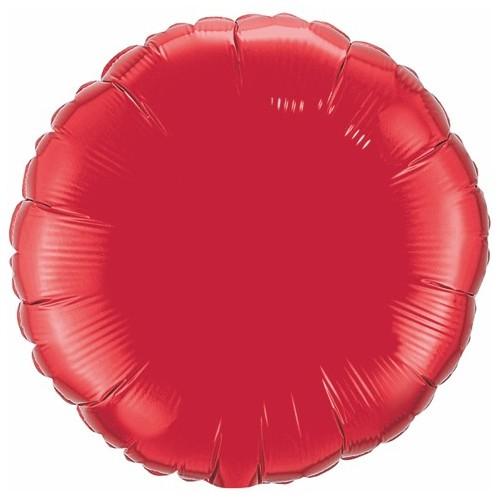 Folija balon - rubinasto rdeč 10 cm